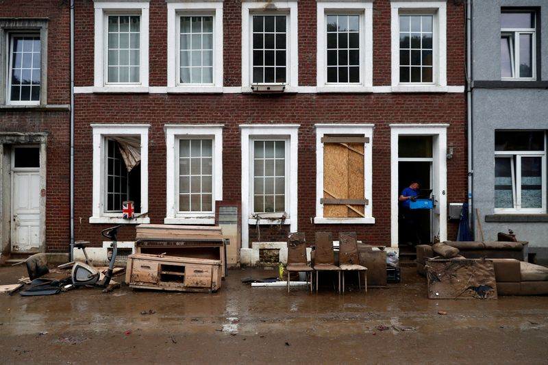 Cars, pavements washed away as Belgian town hit by worst floods in decades